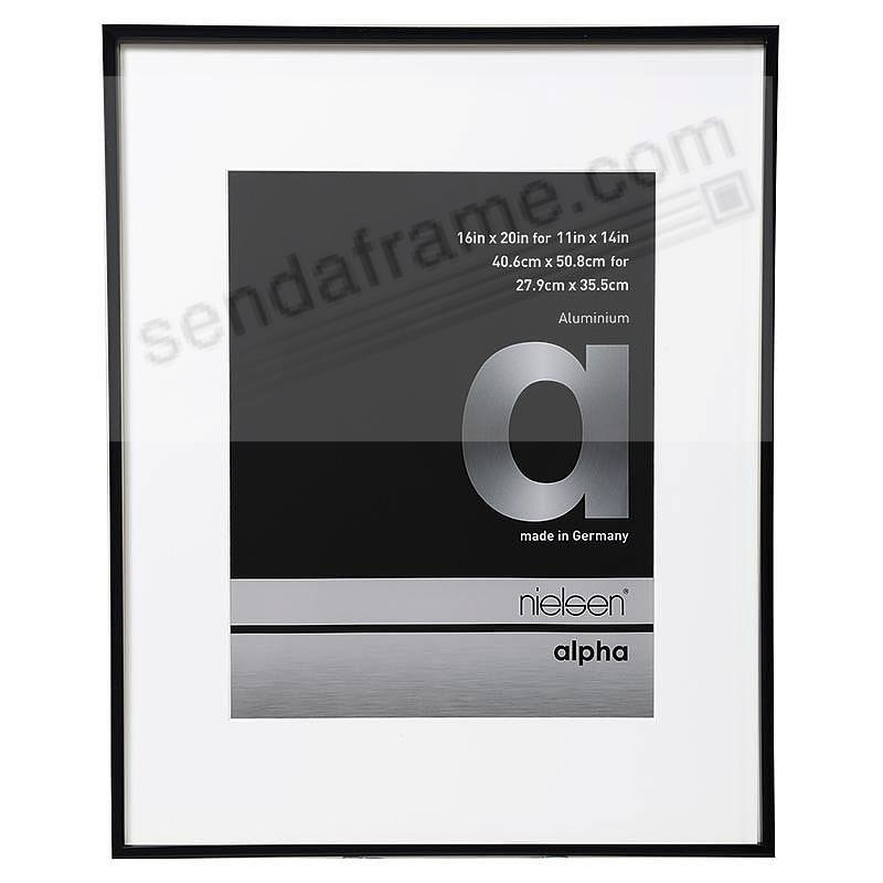 ALPHA Metallic Shiny-Black 16x20 frame by Nielsen®
