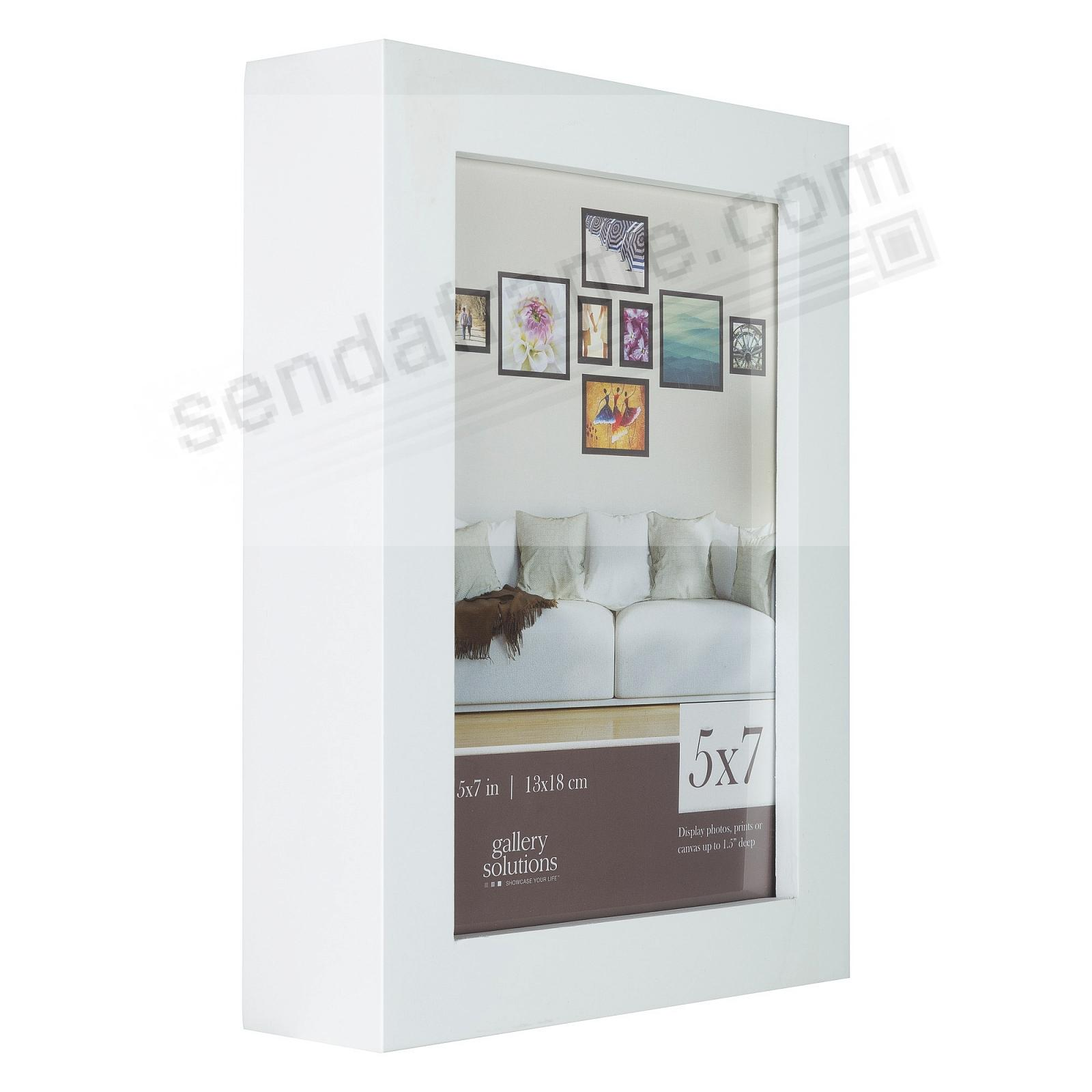 WHITE GALLERY 5x7 frame by Gallery Solutions®