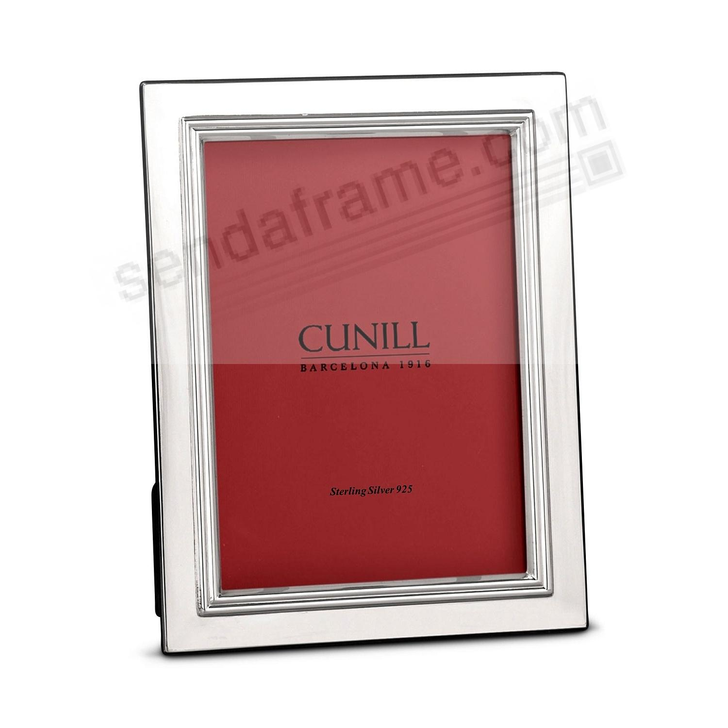 BORDERED Fine Sterling Silver 5x7 frame<br>by Cunill® Italy