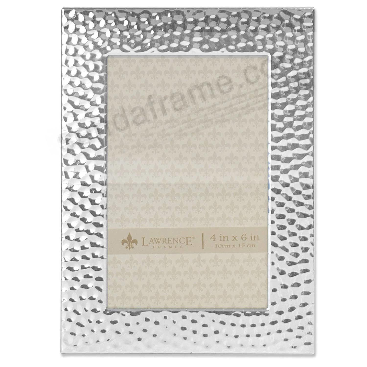 Hammered Silver finish 5x7 frame by Lawrence®