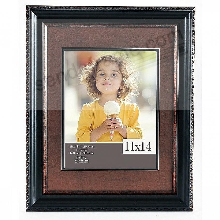 BLACK/Brown 11x14/8x10 frame by Gallery Solutions™