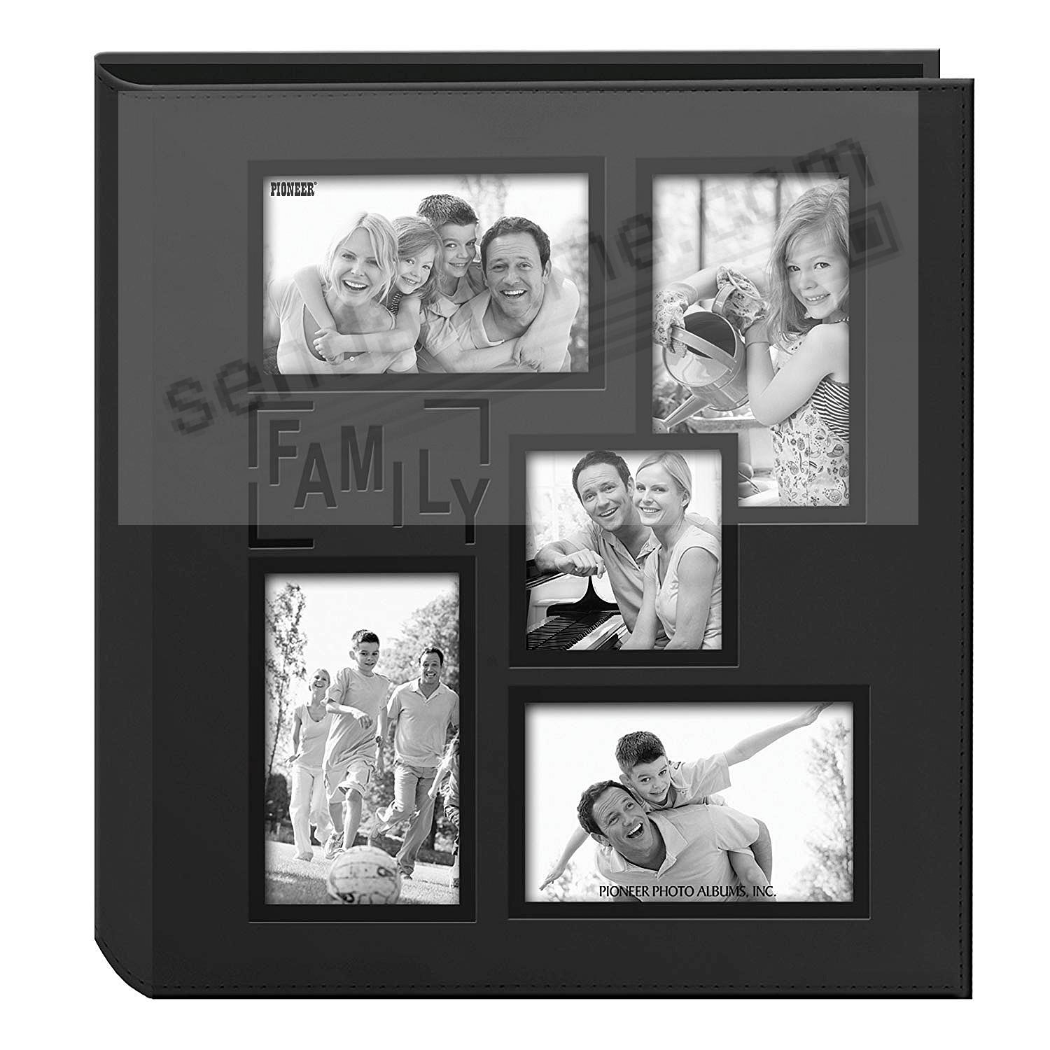 Collage Cover Frame Embossed FAMILY Album - Black - by PIONEER