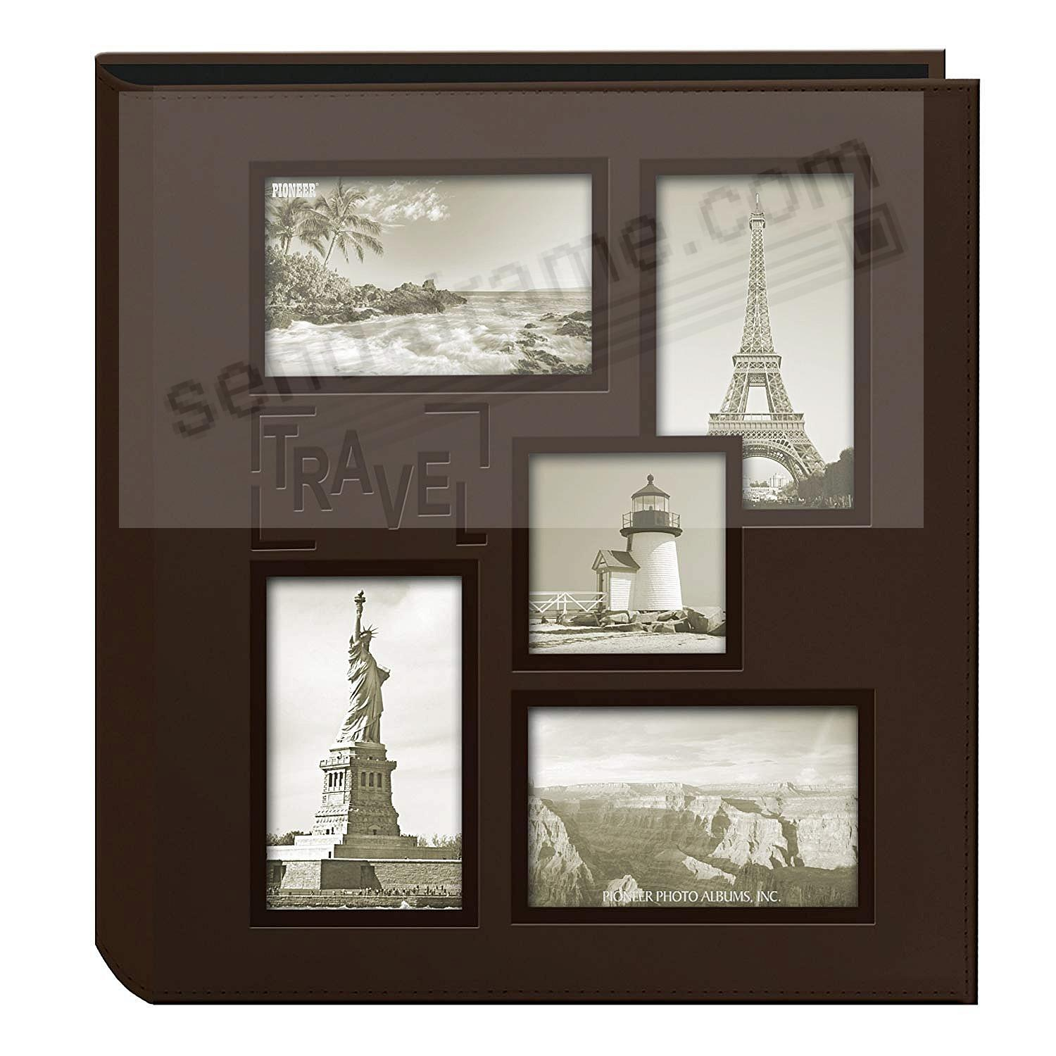 Collage Cover Frame Embossed TRAVEL Album - Black - by PIONEER