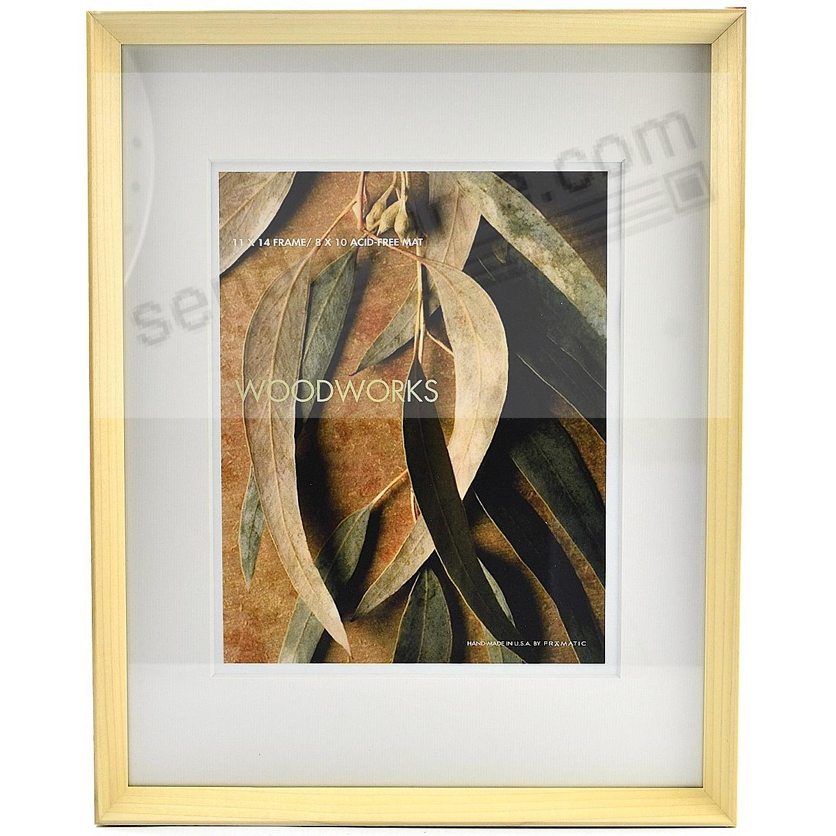 WOODWORKS NATURAL Matted 11x14/8x10 by FRAMATIC®