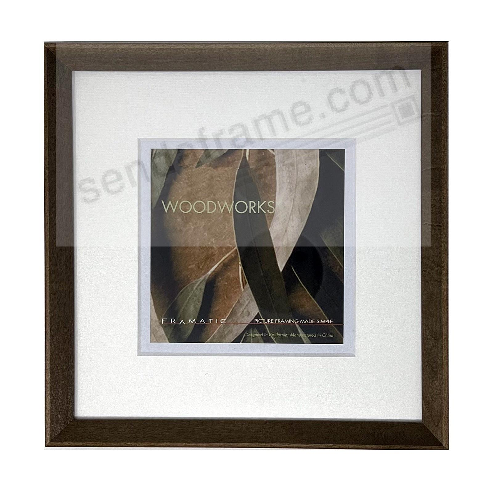 WOODWORKS BARN GREY Matted 11x11/8x8 by FRAMATIC®