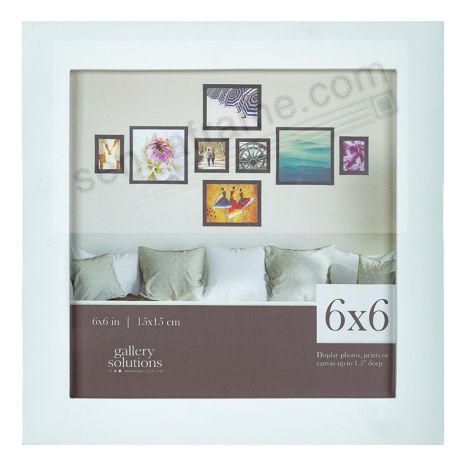WHITE GALLERY 6x6 frame by Gallery Solutions®