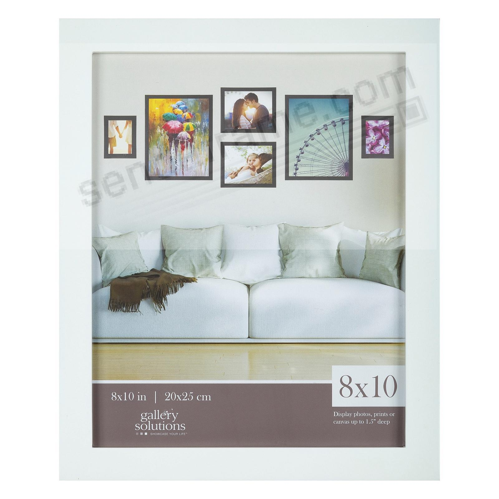 WHITE GALLERY 8x10 frame by Gallery Solutions®