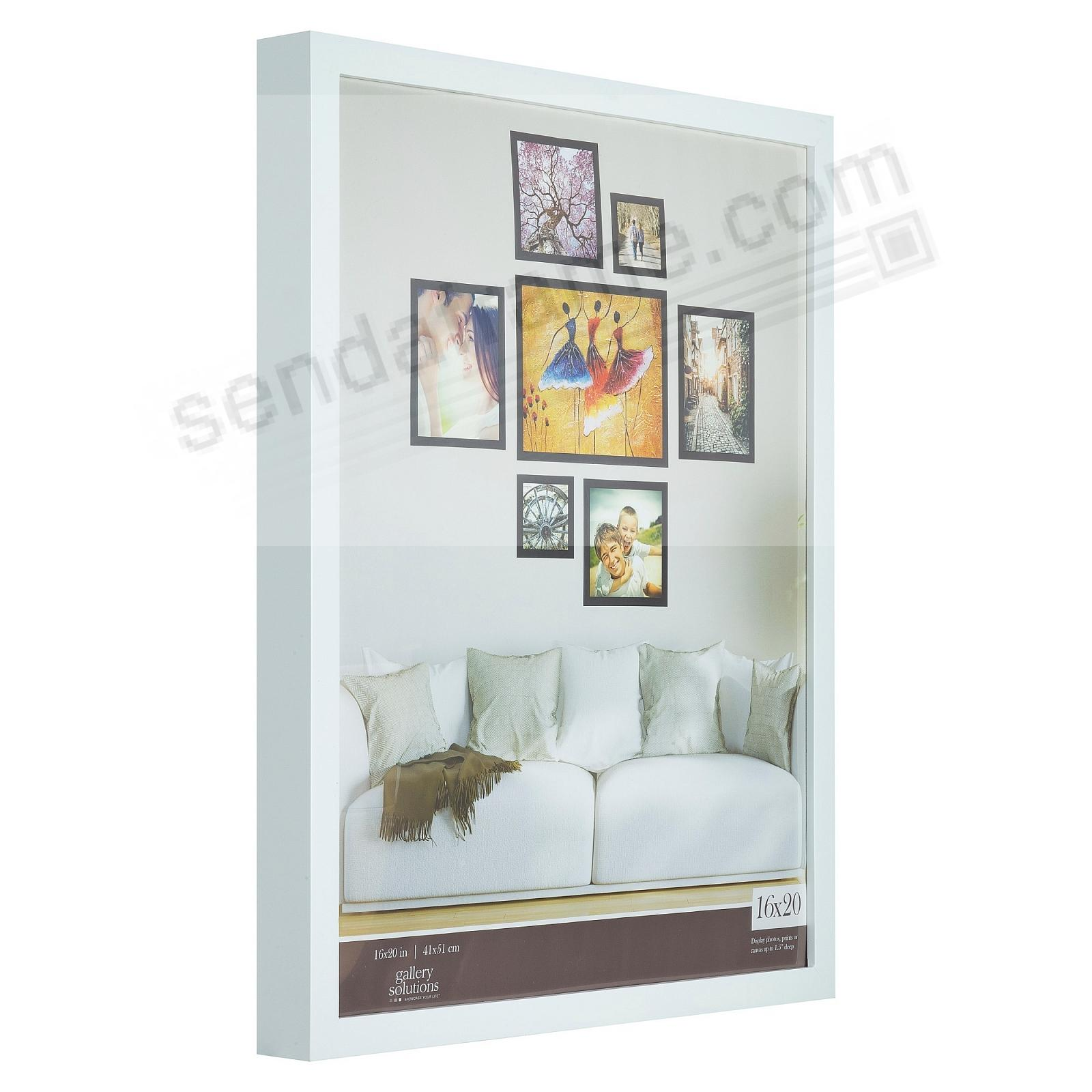 WHITE GALLERY 16x20 frame by Gallery Solutions®