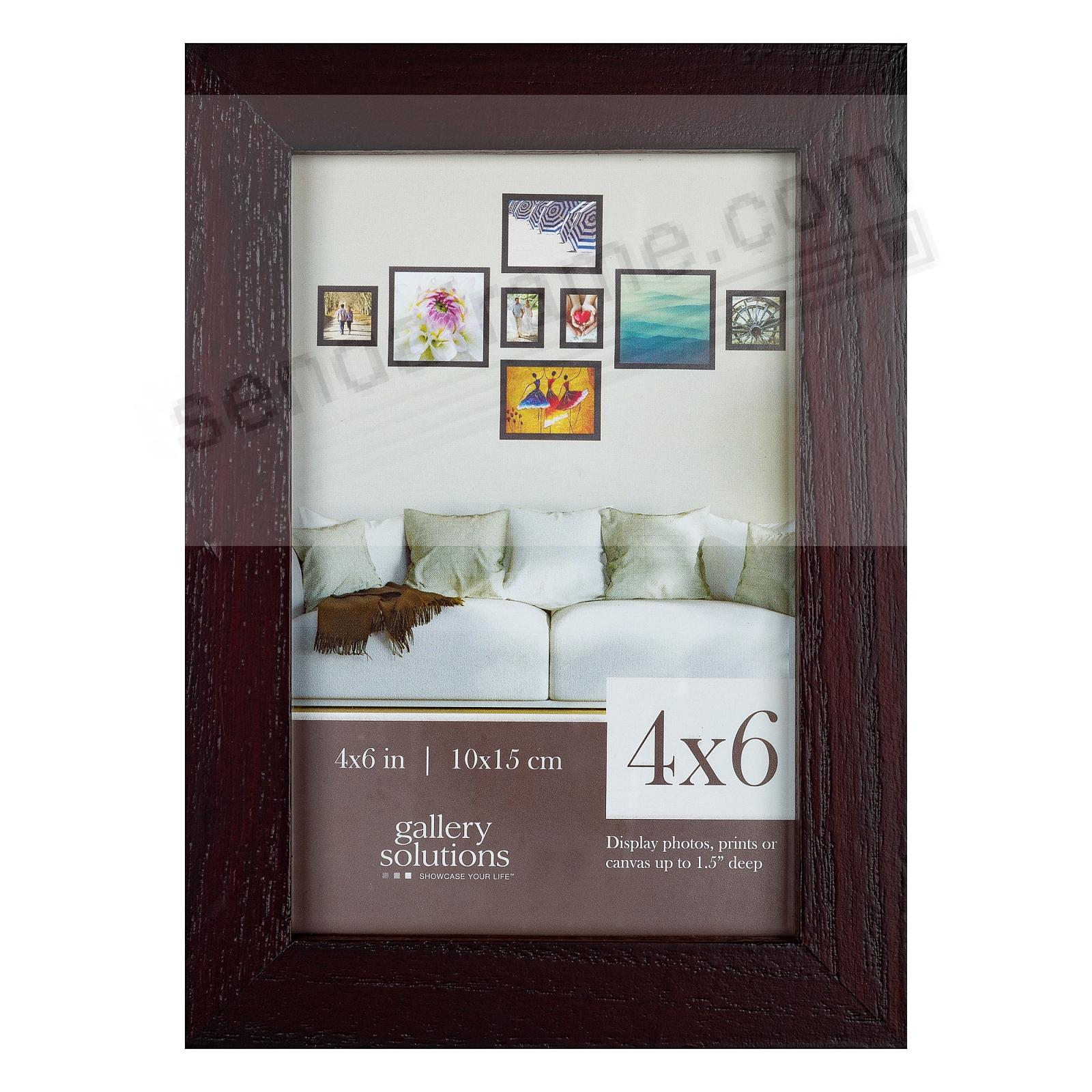 Walnut GALLERY 4x6 frame by Gallery Solutions®