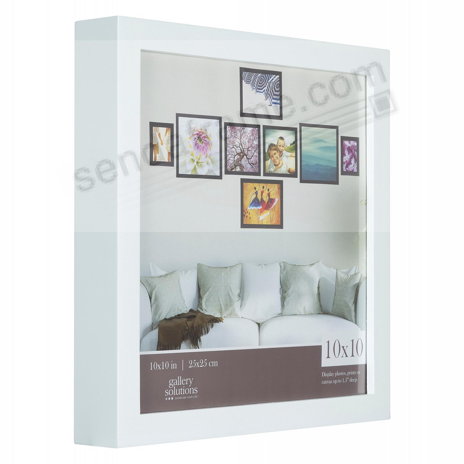 WHITE GALLERY 10x10 frame by Gallery Solutions®