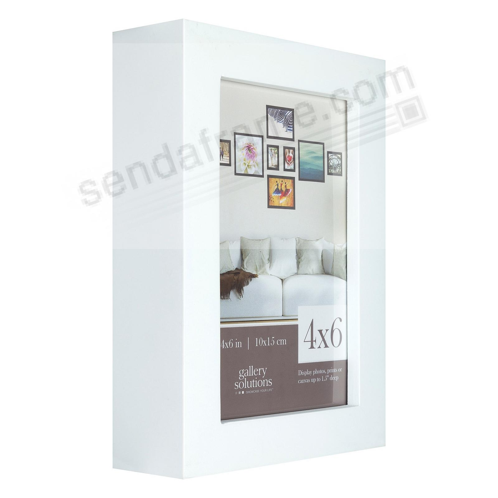 WHITE GALLERY 4x6 frame by Gallery Solutions®