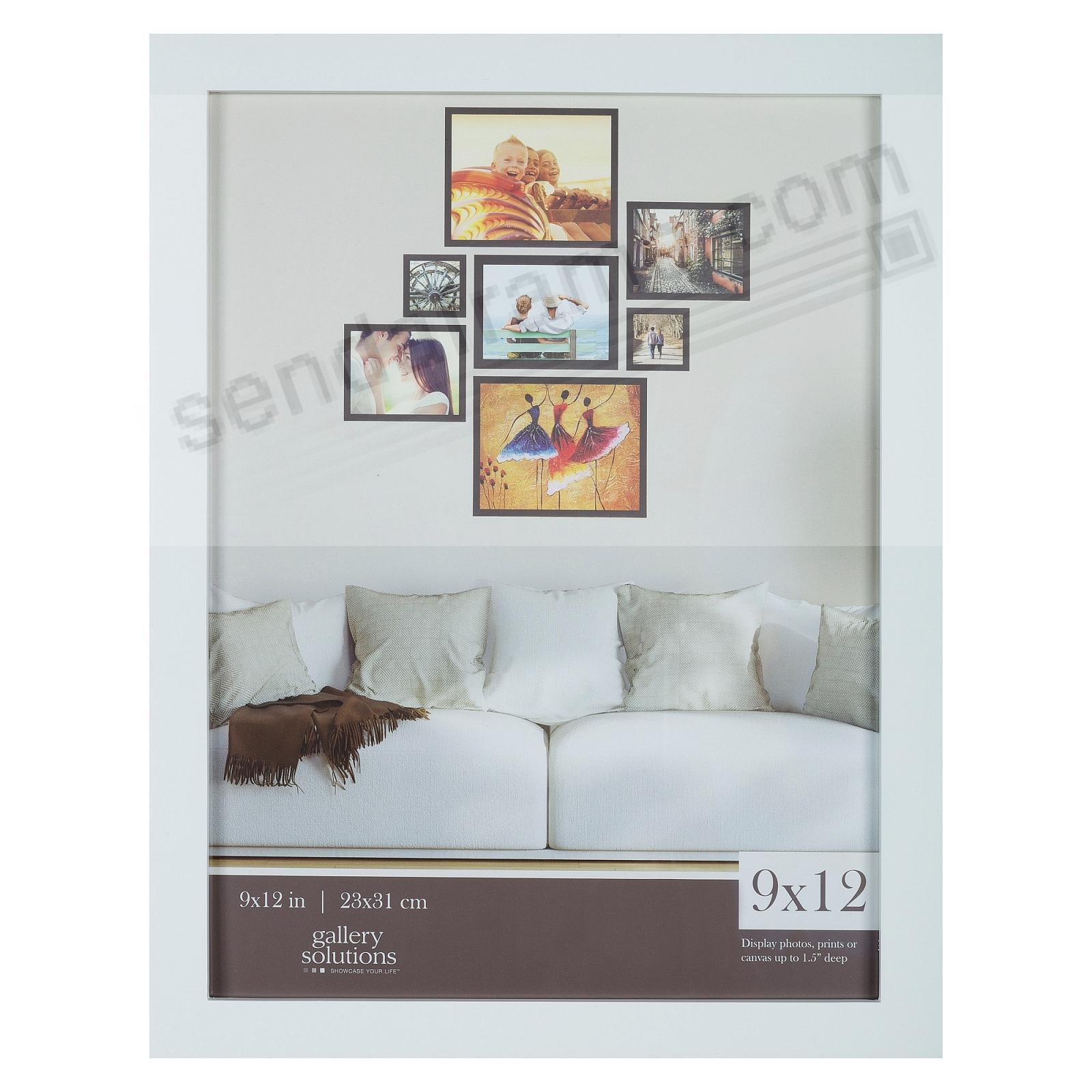 WHITE GALLERY 9x12 frame by Gallery Solutions®