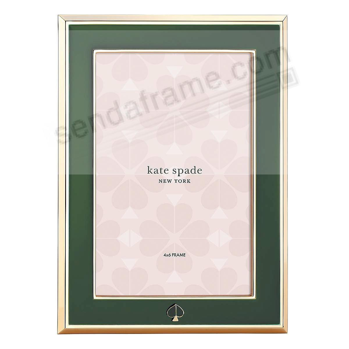 SPADE STREET™ Forest-Green 4x6 frame by kate spade new york®