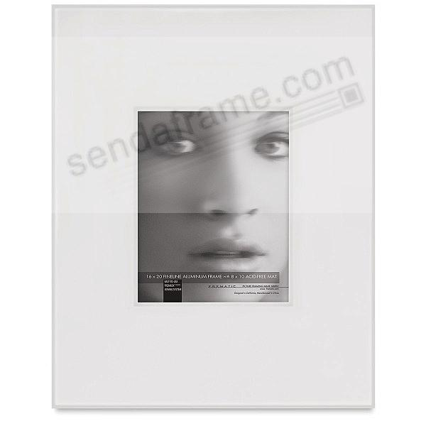 FINELINE Silver Aluminum Shadow-Mat 16x20/8x10 by Framatic®