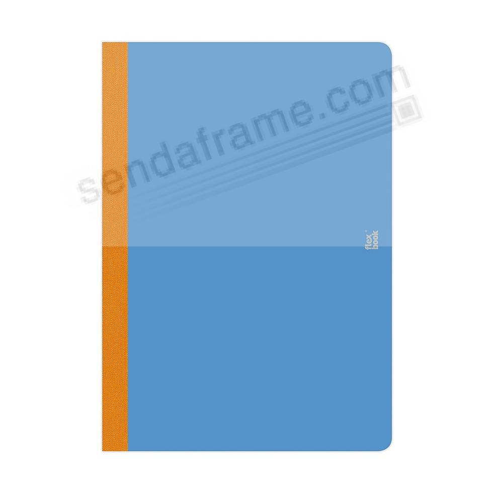 FLEXBOOK SMARTBOOK (6x9 Ruled) Royal-Blue/Orange by PratParis®