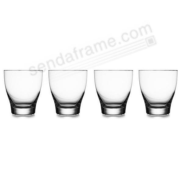 The Original VIE DOUBLE OLD-FASHIONED GLASSES by Nambe® (SET of 4)