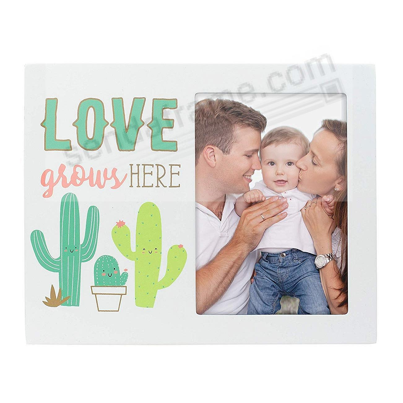 LOVE GROWS HERE keepsake frame by Pearhead®