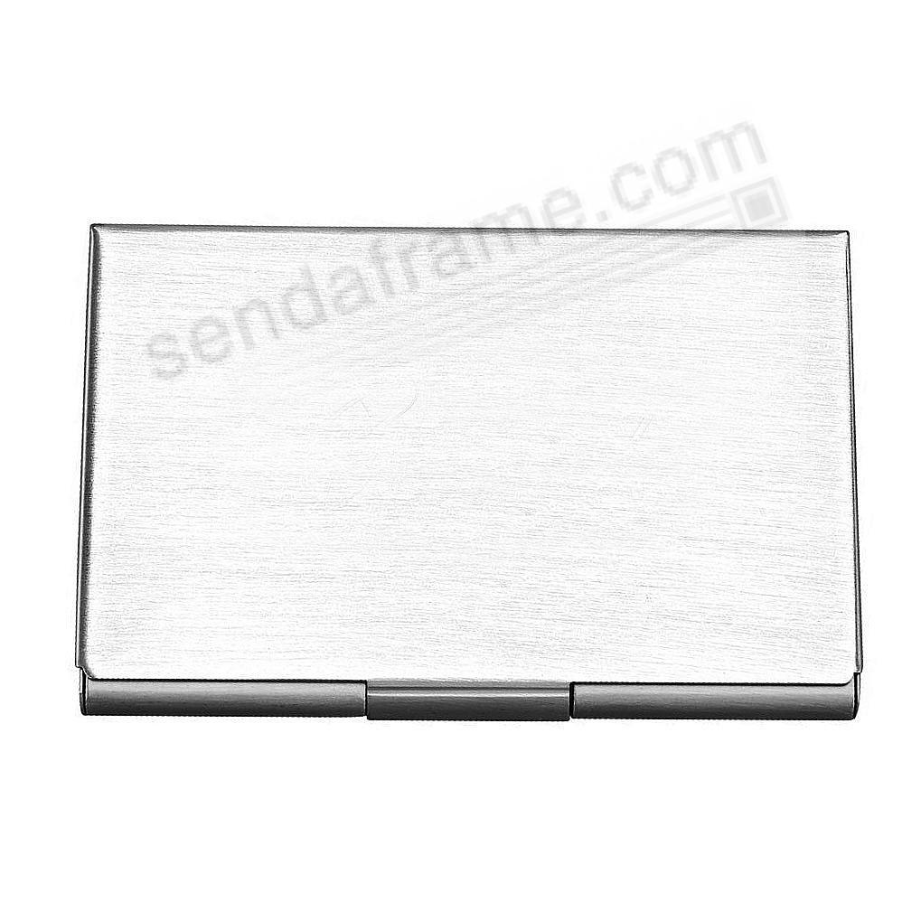 Silver Matte-finish Business Card Case
