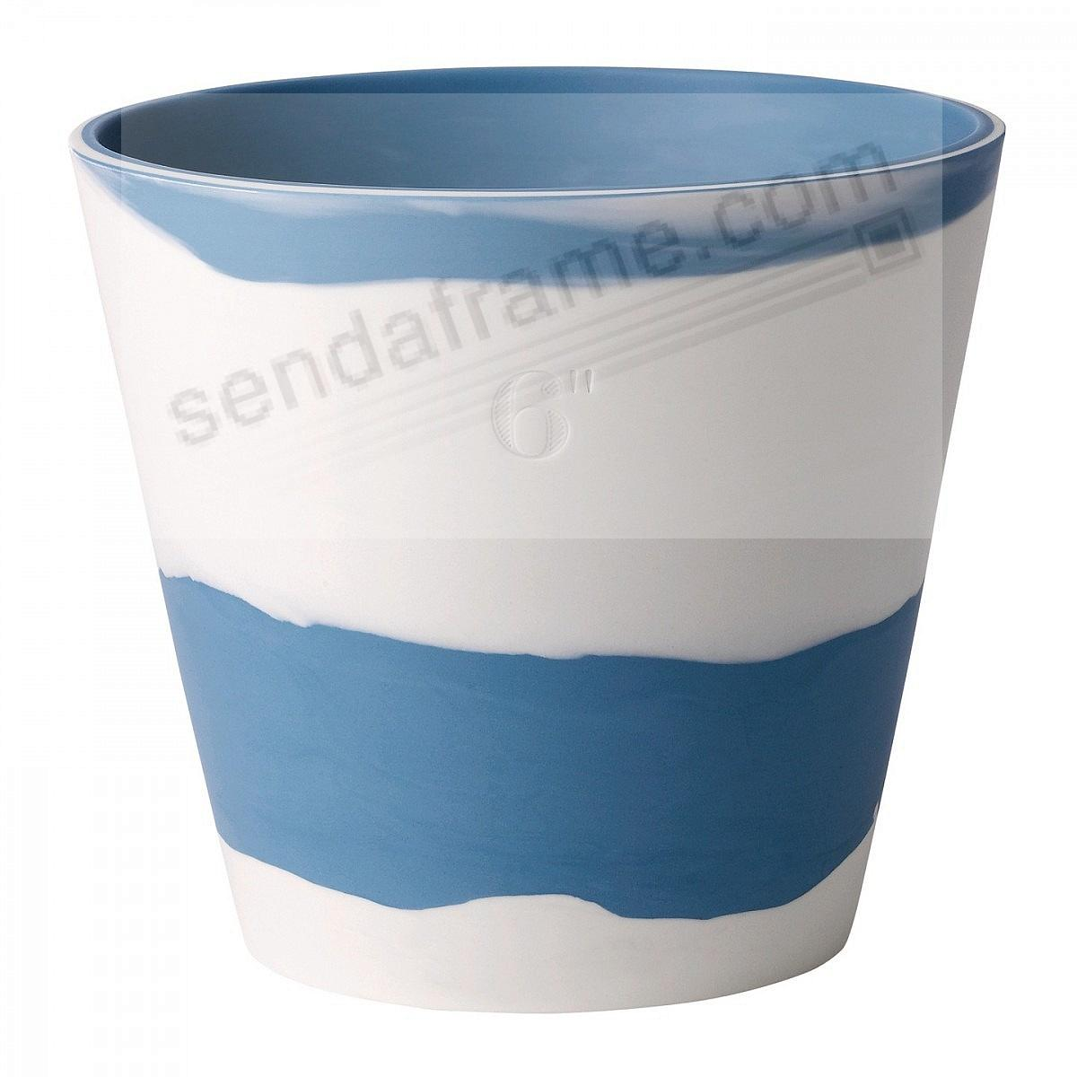 BURLINGTON PLANTER POT Blue+White 6in by Wedgwood®