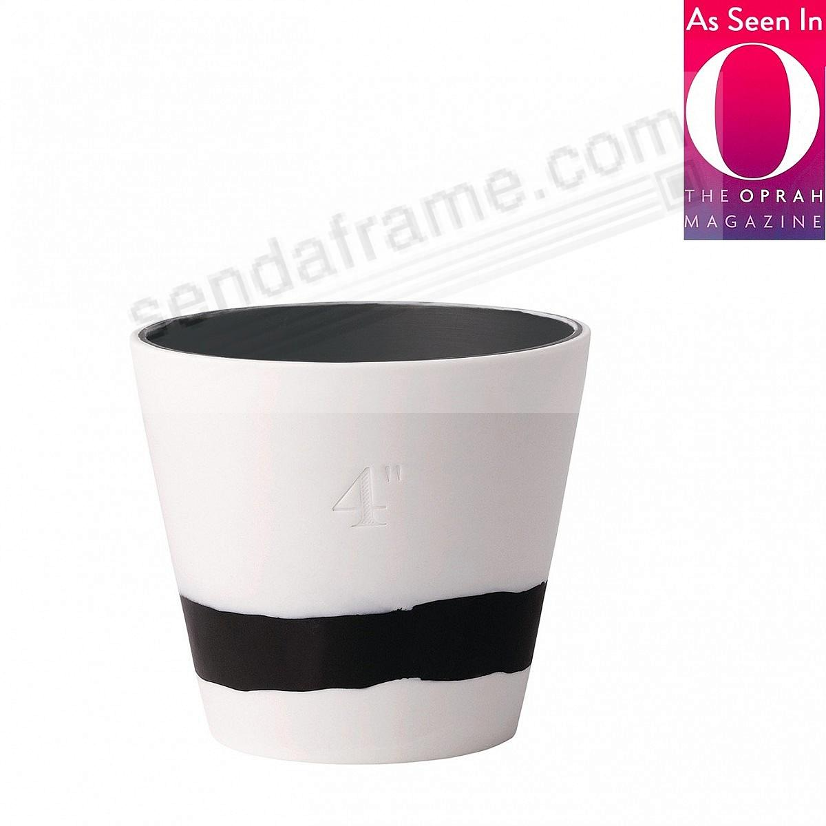 BURLINGTON PLANTER POT Black+White 4in by Wedgwood®