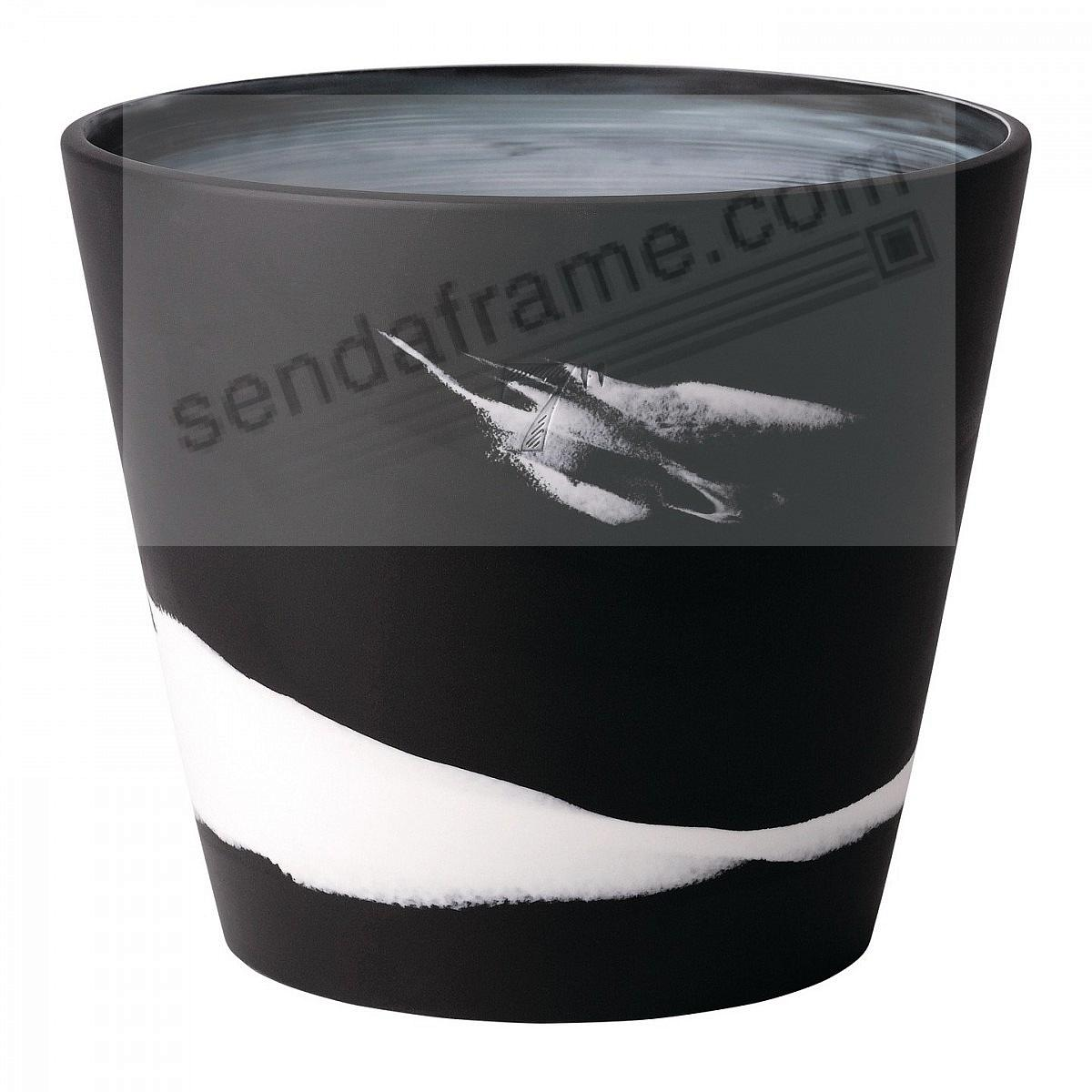 BURLINGTON PLANTER POT Black+White 7in by Wedgwood®
