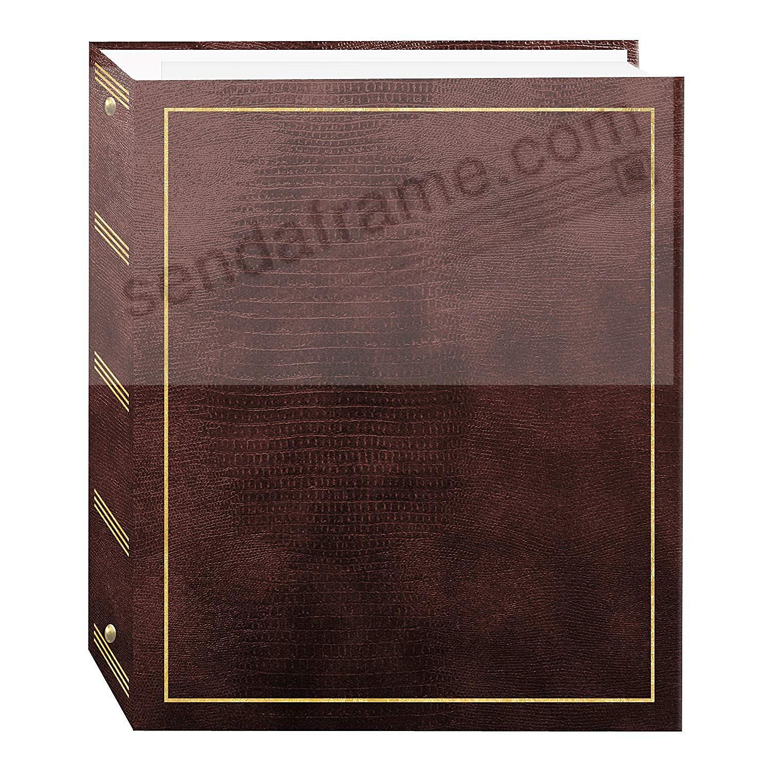 BROWN 3-ring album<br>w/EZ-stick magnetic pages