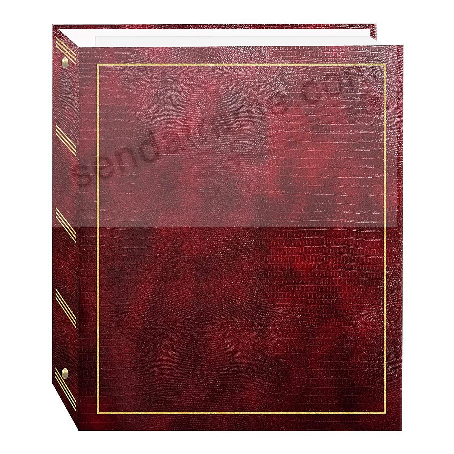 BURGUNDY 3-ring album<br>w/EZ-stick magnetic pages