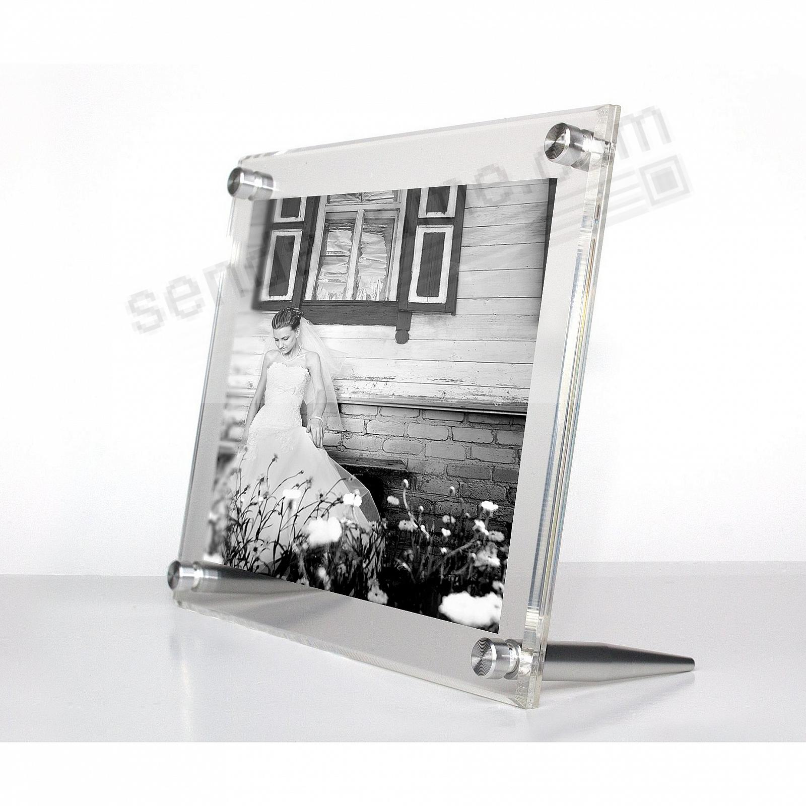 ACRYLIC BEVEL FLOAT Clear/Silver Frame 9x7/5x7 by Wexel Art®