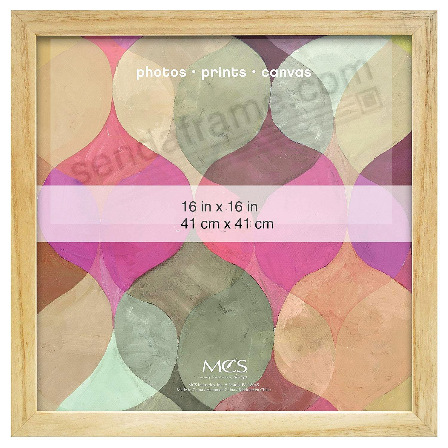 Art Shadow-Box 1-3/8in depth NATURAL Wood 16x16 frame by MCS®
