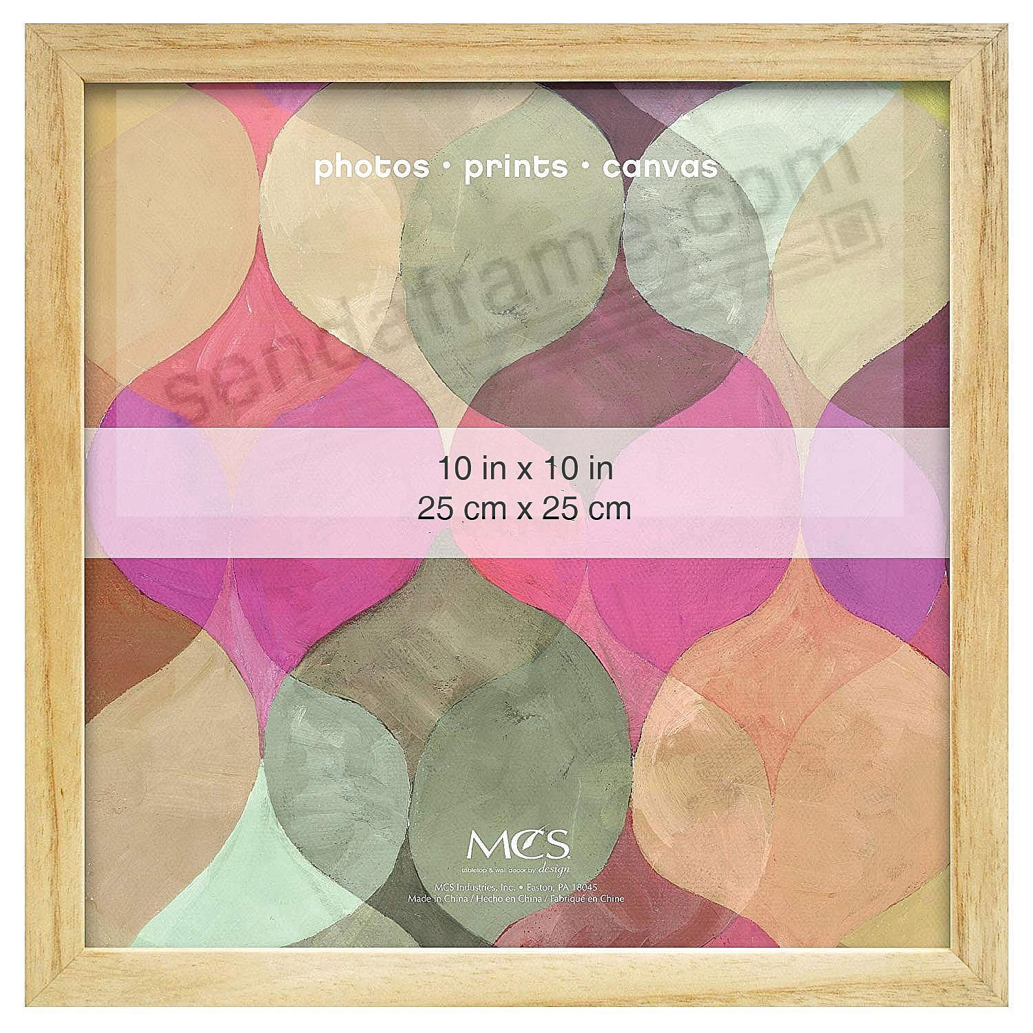 Art Shadow-Box 1-3/8in depth NATURAL Wood 10x10 frame by MCS®