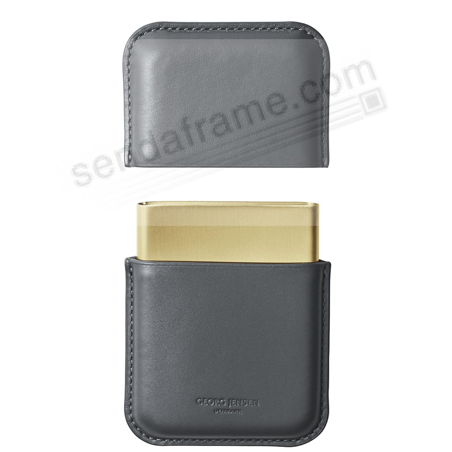 SHADES Collection Business Card Holder Grey Leather by Georg Jensen®