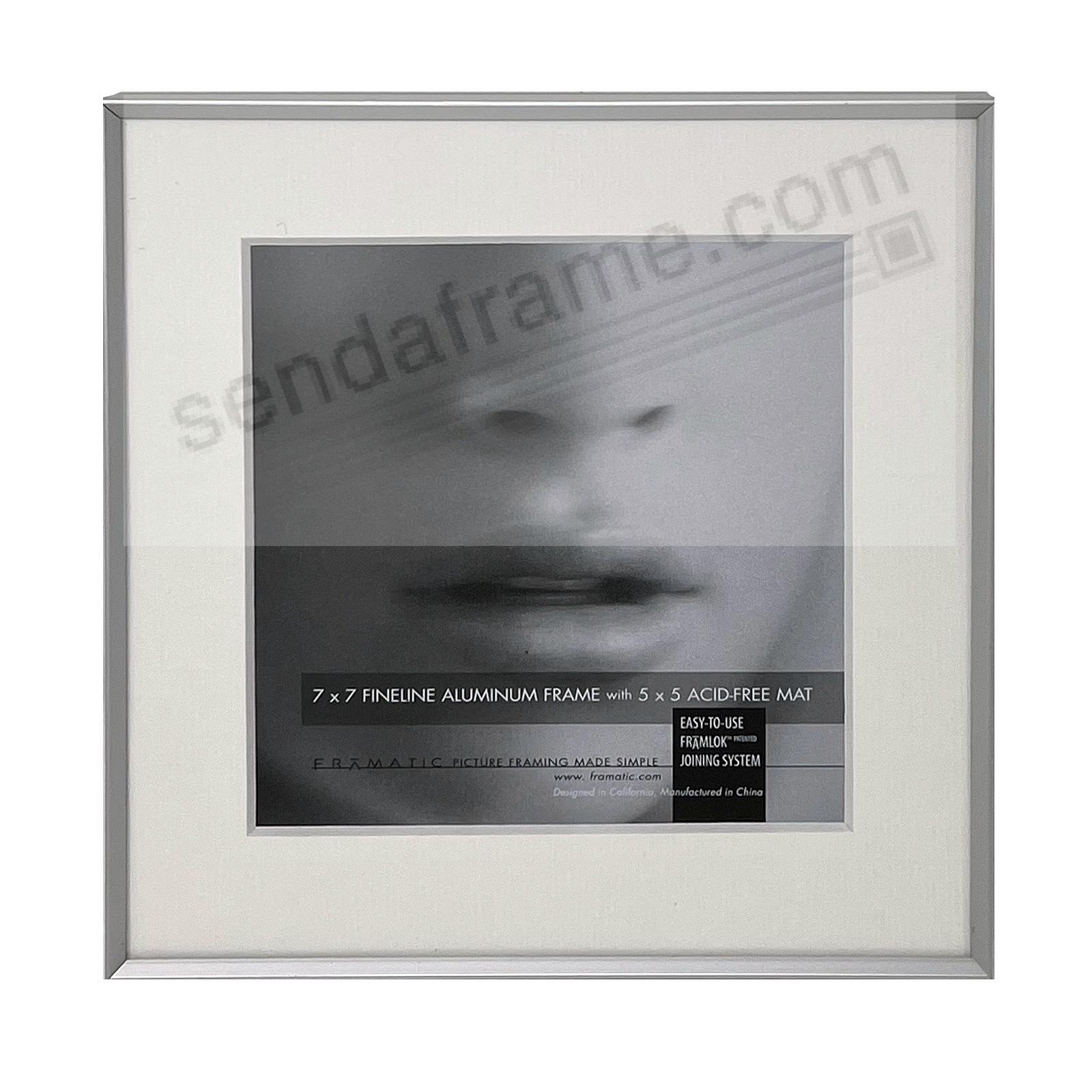 FINELINE Silver Aluminum 7x7/5x5 Matted by Framatic®
