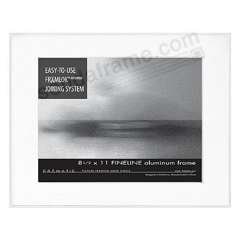 FINELINE White Aluminum Matted 11x14/8½x11 by Framatic®