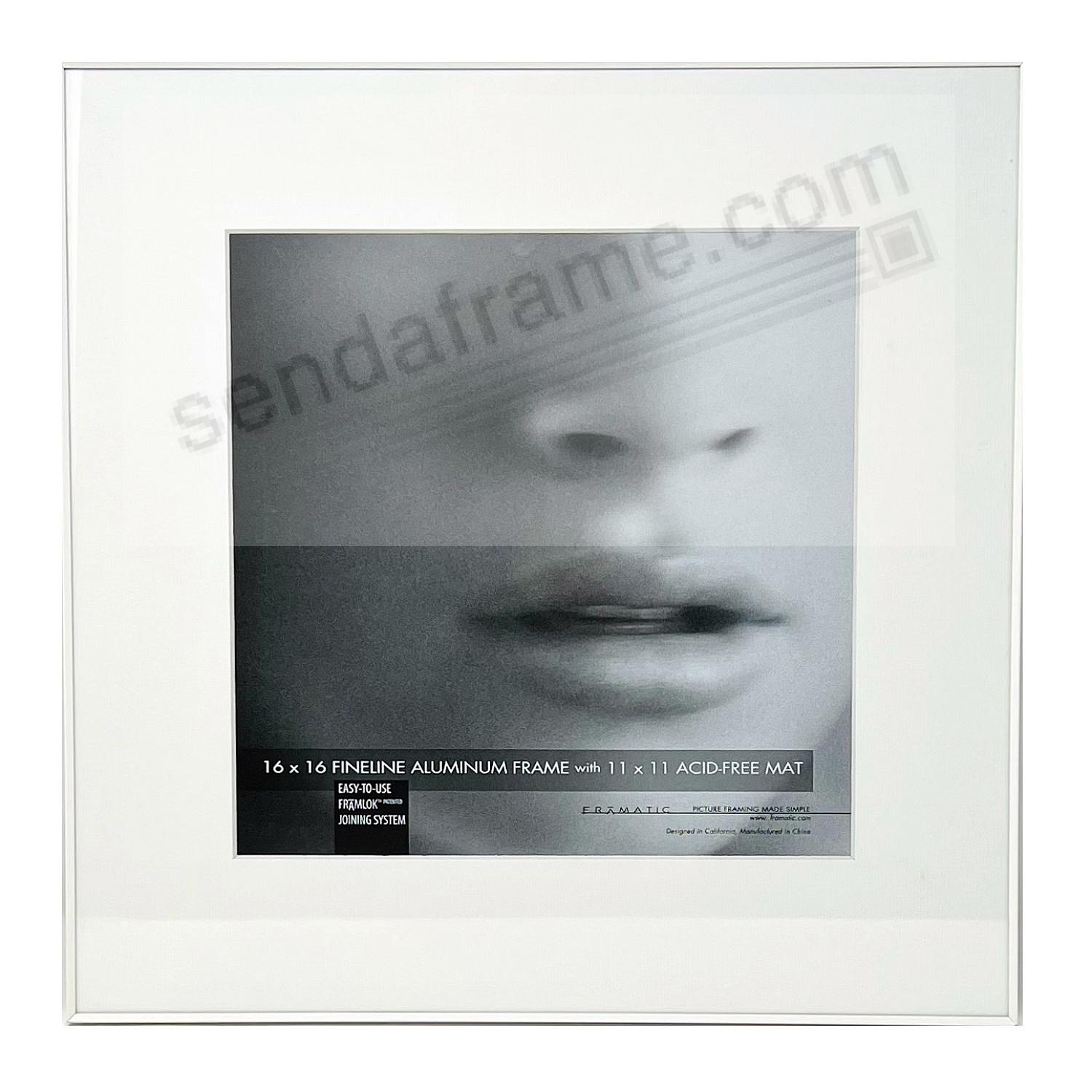 FINELINE White Aluminum 16x16/11x11 by Framatic®