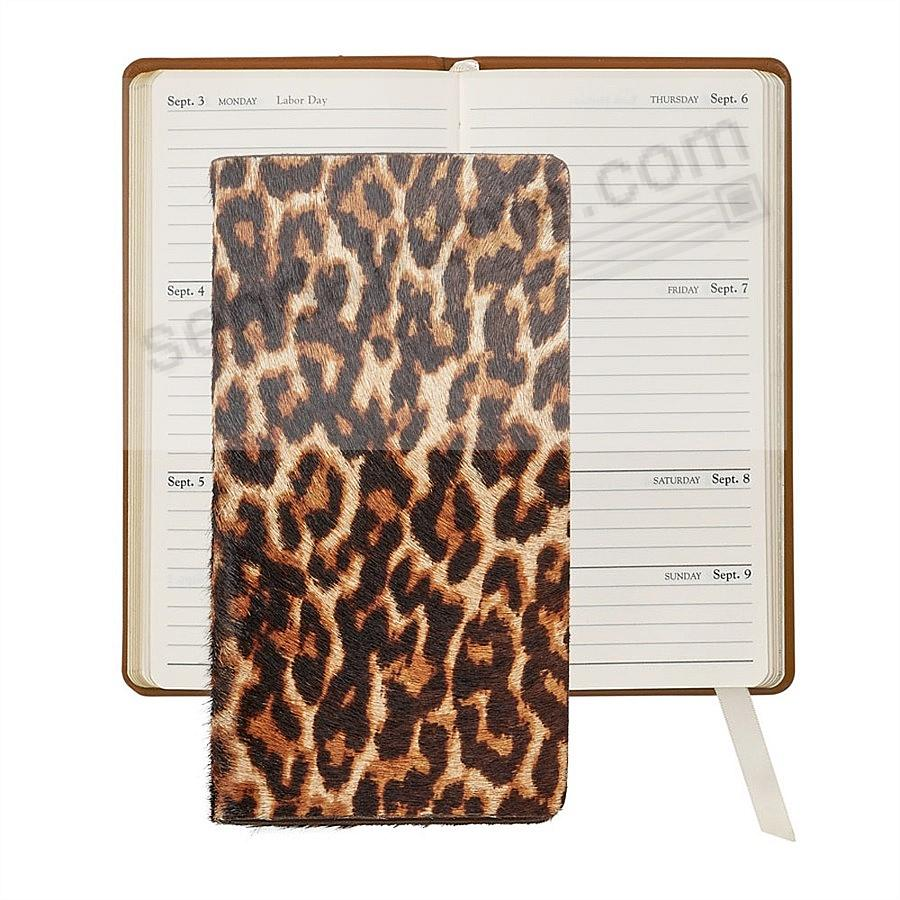 2020 LEOPARD HAIR 6-in Pocket Datebook Fine EMBOSSED Leather by Graphic Image™