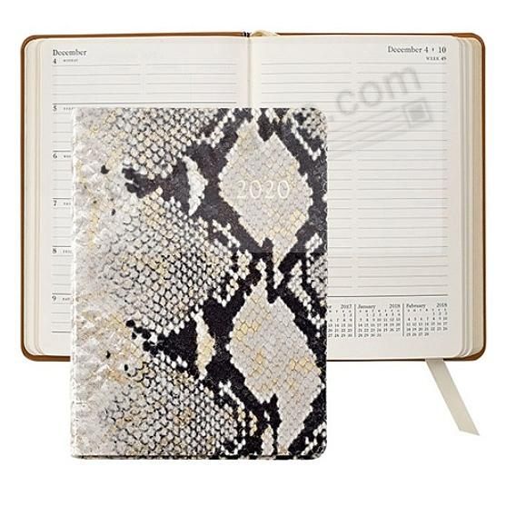 2020 Notebook Planner 7-in NATURAL GOLD-WASH PYTHON Embossed Leather by Graphic Image™