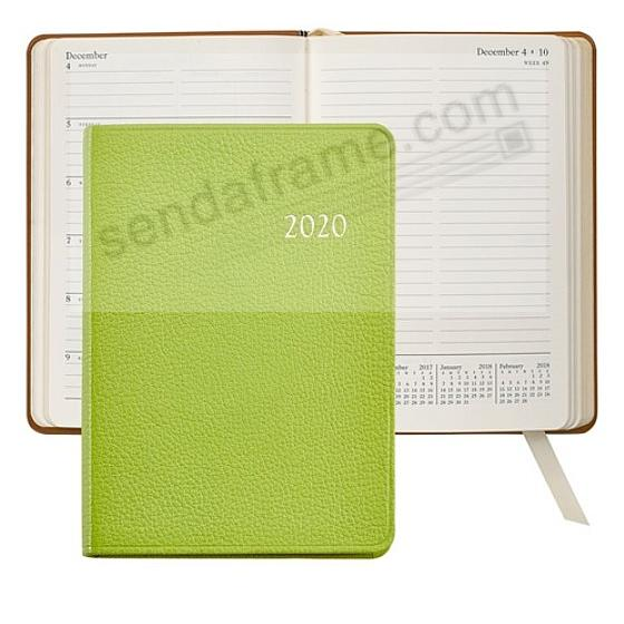 2020 Notebook Planner 7-in LIME Fine Leather by Graphic Image™