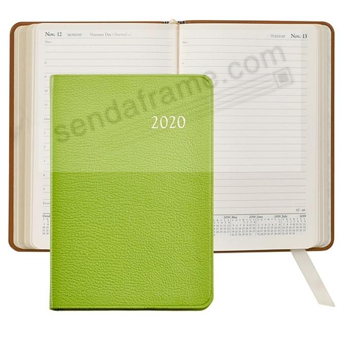 2020 LIME Brights Goatskin leather Daily 8-in Journal by Graphic Image™