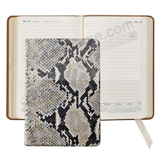 2020 NATURAL GOLD-WASH PYTHON EMBOSSED Fine Leather Daily 8-in Journal by Graphic Image™
