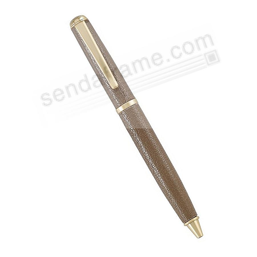 Full Wrap Fine Leather PEN in TAUPE Goatskin by Graphic Image™