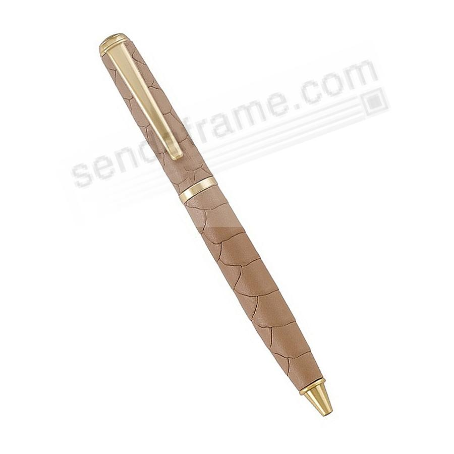 Full Wrap Fine Leather PEN in SAND EMBOSSED PYTHON by Graphic Image™
