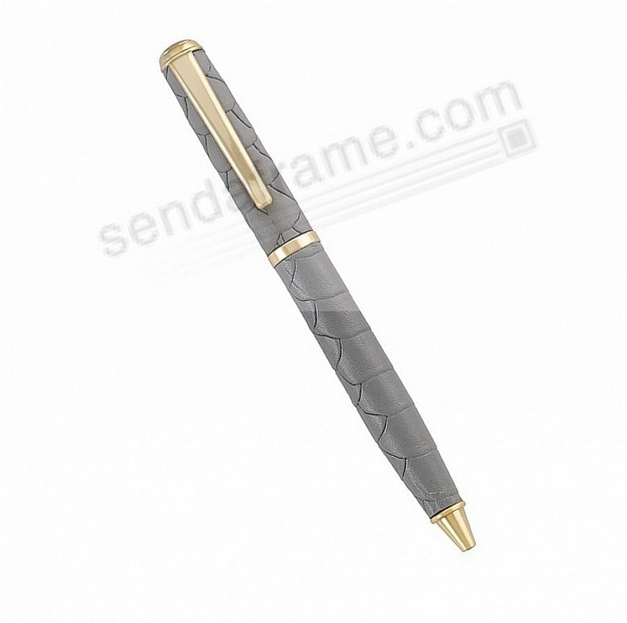 Full Wrap Fine Leather PEN in SLATE EMBOSSED PYTHON by Graphic Image™