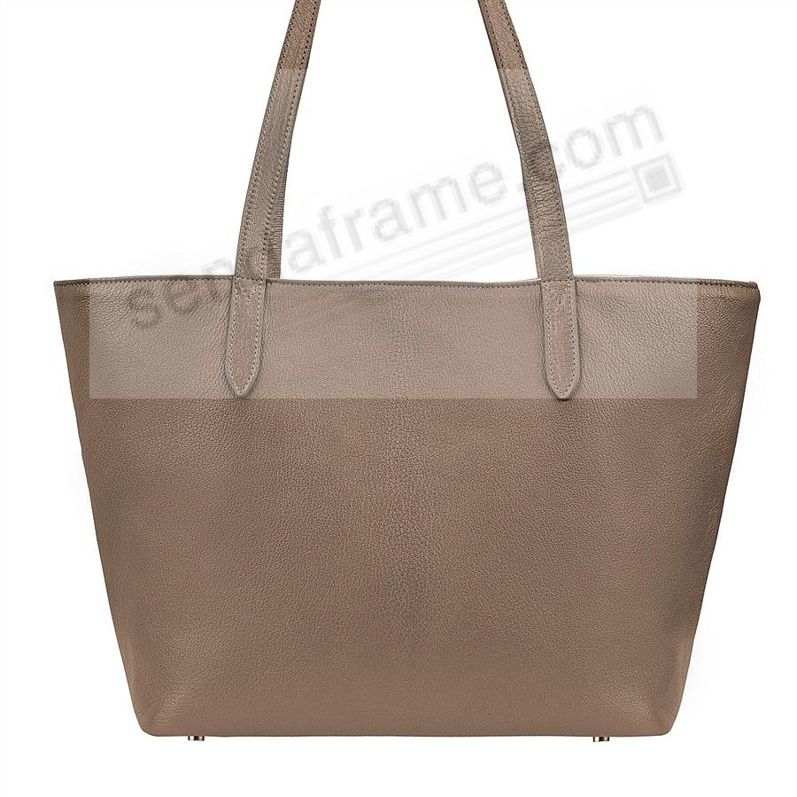 The Original CASSIE TOTE crafted in Taupe Soft Leather by Graphic Image™