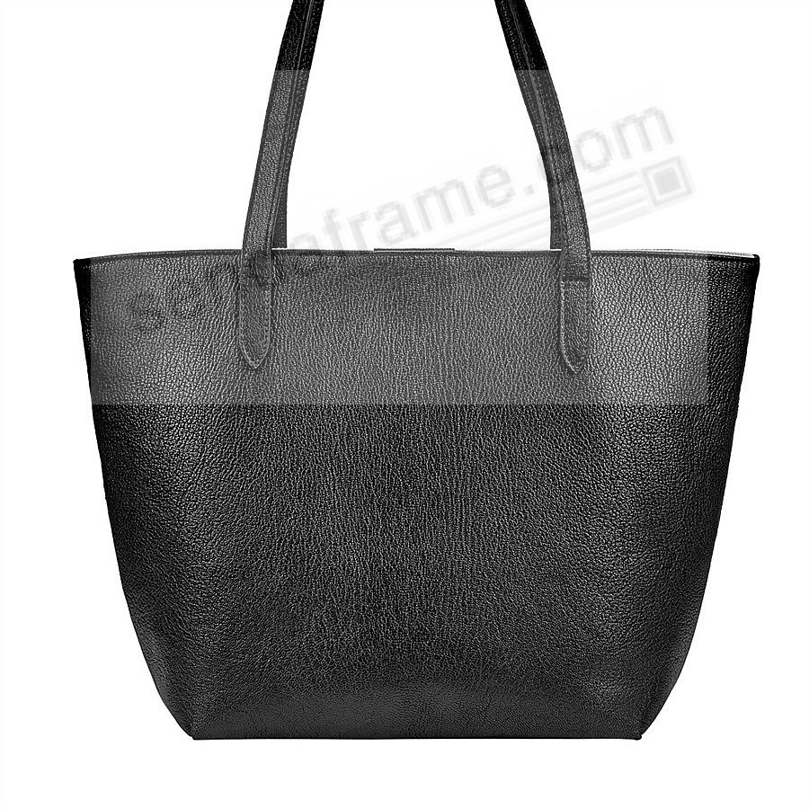 The Original ELLA TOTE crafted in Black Soft Leather by Graphic Image™