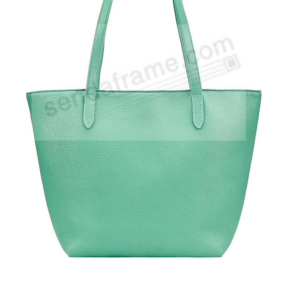 The Original ELLA TOTE crafted in Robins-Egg-Blue Soft Leather by Graphic Image™