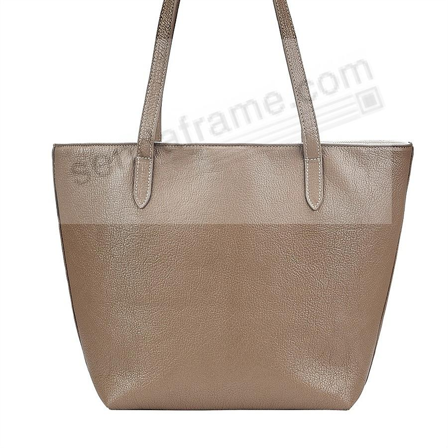 The Original ELLA TOTE crafted in Taupe Soft Leather by Graphic Image™