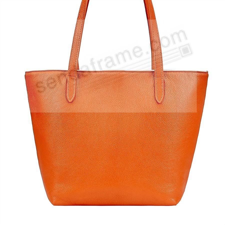 The ELLA TOTE crafted in Orange Soft Leather by Graphic Image™