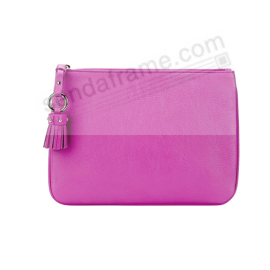 The RILEY CLUTCH BAG crafted in Orchid Soft Leather by Graphic Image™