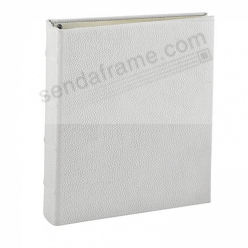 Light-Gray Leather 2-up Clear Pocket 4-ring Album<br>by Graphic Image™