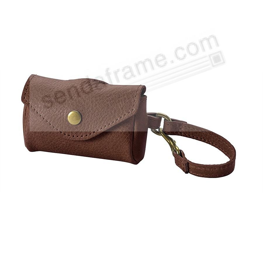 DOG WASTE BAG HOLDER - BROWN Leather by Graphic Image™